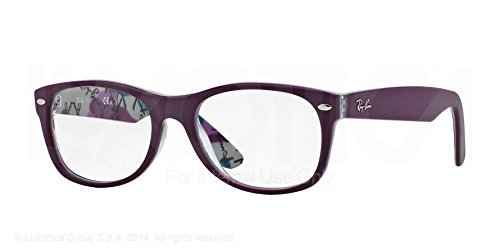 RAY BAN Eyeglasses RX 5184F 5408 Top Matte Violet On Texture - 5184 Rayban