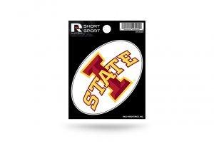 Rico Industries NCAA Iowa State Cyclones Die Cut Team Logo Short Sport Sticker