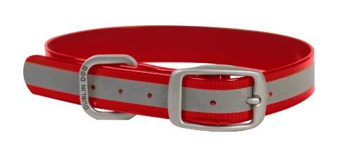 Dublin Dog 12.5-Inch to 17-Inch KOA Reflective Waterproof Dog Collar, Medium, Red