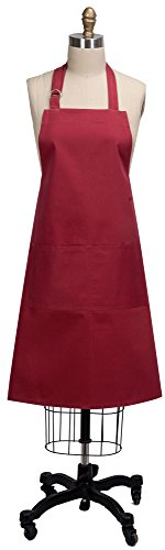 Kay Dee Designs R9201 Everyday Basics Chef Apron, Cardinal