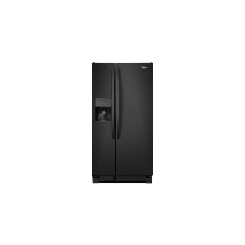 Whirlpool WRS322FDAB 22 Cu. Ft. Black Side By Side Refrigerator   Energy Star