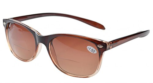 - Eyekepper Long Arms Bifocal Sunglasses Brown Lens +1.25
