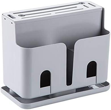 huafengsc Estante para Cubiertos Caja de Almacenamiento Porta Cuchillos Caja de Palillos Cocina Cuchillo y Tenedor Caja de Palillos hogar Tubo de Palillos de plástico, Gris: Amazon.es: Hogar