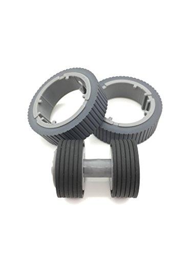 OKLILI PA03670-0001 PA03670-0002 Consumable Kit Pick Roller + Brake Roller Pickup Roller for Fujitsu fi-7160 fi-7260 fi-7140 fi-7240 fi-7180 (Printer Pick Roller Kit)