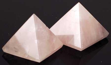 "New Age Small Rose Quartz Pyramid 1""- 1 1/4"" (25 to 30mm)"