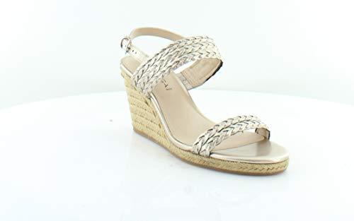 (Via Spiga Women's Indira Espadrille Wedge Sandal, Gold, Size 8.0 Ctng)