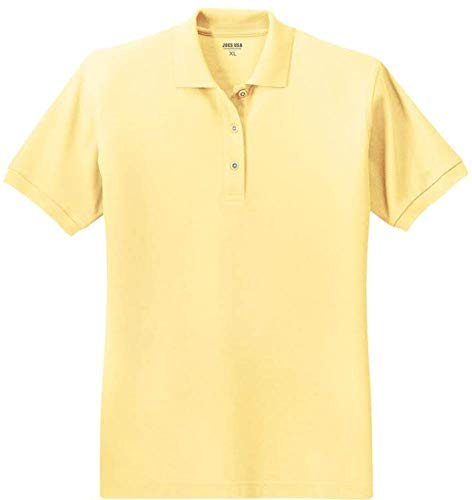 Joe's USA Ladies Short Sleeve Polo Shirt-Banana-M