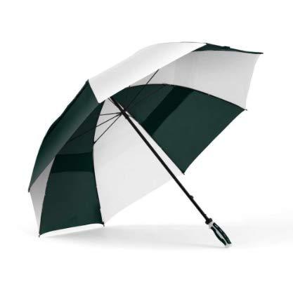 ShedRain 3289-HunterWhite WINDJAMMER Vented Manual Golf Umbrella, 62-Inch Arc