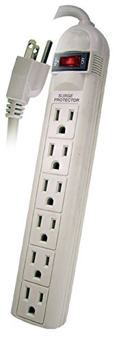 12' Kitchen (POWTECH UL Listed 6 Outlet Surge Protector Heavy Duty Home/Office Power Strip, 14 AWG Cord, 125V, 15AMPS, 1875 Watt, 12-Ft Power Cord)