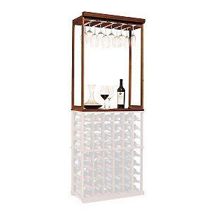 N'FINITY Wine Rack Kit - Stemware & Tabletop - Dark Walnut - Solid Mahogany by N'FINITY