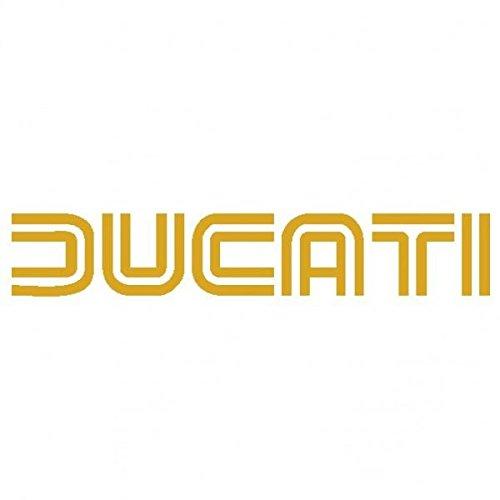 Ducati scritta 2 Adesivo Prespaziato Colore Oro 15cm