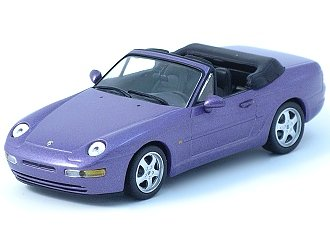 Porsche 968 Cabriolet - Minichamps Porsche 968 Cabriolet 1994 Purple Metallic 1/43 Scale Diecast Model
