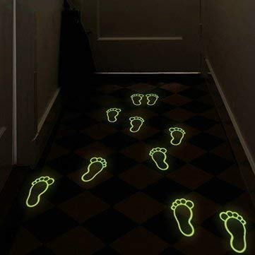 - Dottiete Lucent Footmark Way - Luminou Footprint Footed Sticker Floor Foot Decal Home Kid Decor Direction - Counseling Lambent Step Steering Glowing Guidance Bright Instruction
