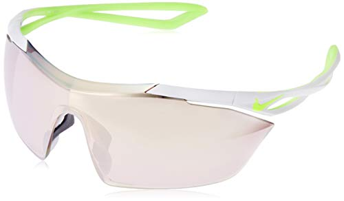 Nike EV0913-070 Vaporing Elite M Frame Speed Tint with Extra White Lens Sunglasses, Pure Platinum/Volt