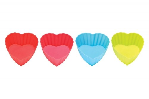 Premier Silicone 4 Pack Heart Moulds Kitchen Accessories