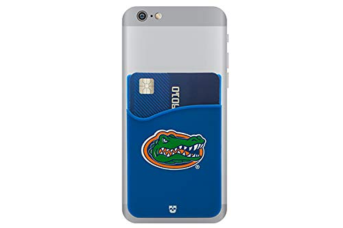 the latest 92cb4 d87c2 Florida Gators Adhesive Silicone Cell Phone Wallet/Card Holder for iPhone,  Android, Samsung Galaxy, Most Smartphones