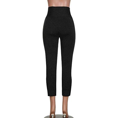 Femmes Leggins Mode Automne Taille Noir Basique Figurformend Printemps À De Haute Lacets Pantalon Sports Vintage Casual Moderne Jogging dw0t0r