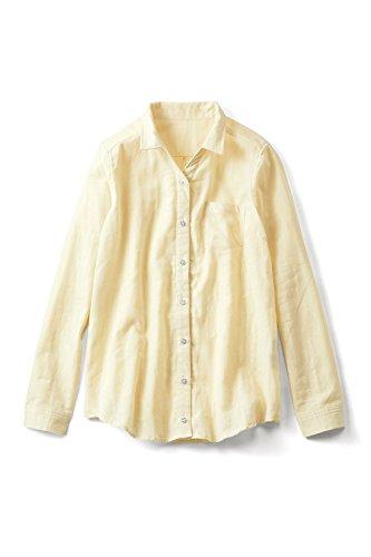 リブ イン コンフォート すっきりシルエットで毎日着たくなる やわらかダブルガーゼシャツ〈シトラスイエロー〉