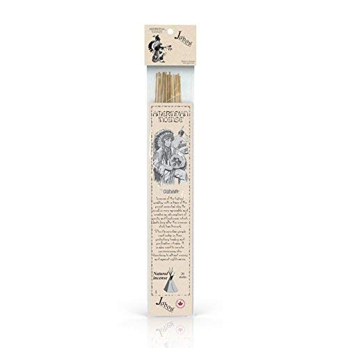 Jabou Amerindian 100% Natural Hand Dipped Incense Sticks - Cedar Aroma - for Meditation, Yoga, Relaxation, Magic, Healing, Prayer & Rituals - 11 inch - 60 Minutes - 20-Pack