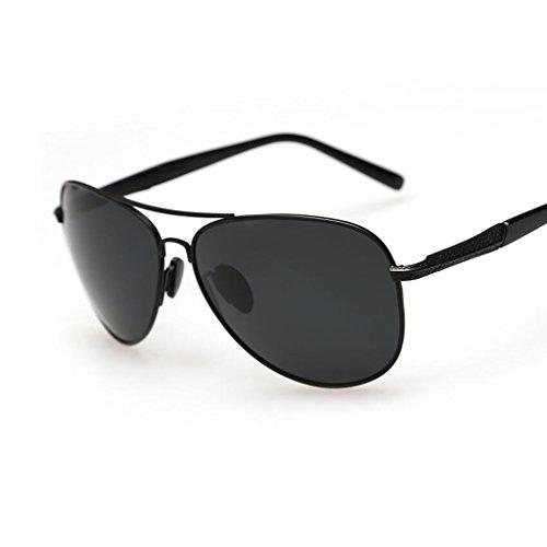 Color De Controladores Gafas Polarizador Conducir QZ HOME Negro Vintage 1 1 Sol Negro AqBW8X