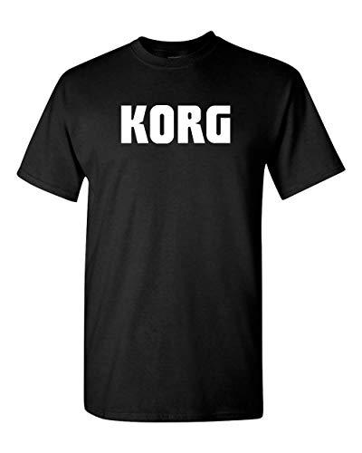 KORG Keyboards Music T-Shirt New Custom Tee (M, Black)