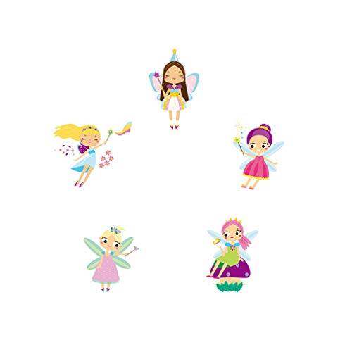 Pulison Wall Sticker Removable Waterproof Creative Cute Cartoon Angel Decals for Living Room Bedroom Studio Metope Cafe Store Glass Door Window Floor Decoration (Multicolor)
