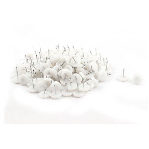 Chapeau eDealMax Plastique Accueil Table Chaise antiglisse Tapis de Protection Tapis Blanc Mat Meubles ongles du pied