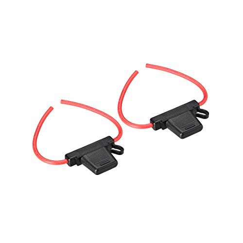 uxcell Fuse Holder In-line 8 Gauge AWG Automotive Car Waterproof Fuse Holder Black 2Pcs for MAXI Fuse