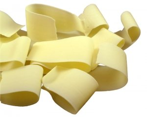 Belgian Chocolate Ribbon Shavings White Chocolate - 5.5Lbs