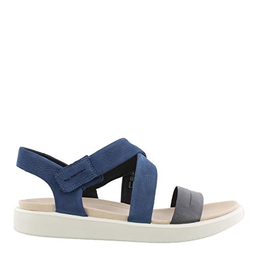 ECCO Women's Women's Flowt Cross Sandal, Marine/True Navy 38 M EU (7-7.5 US)