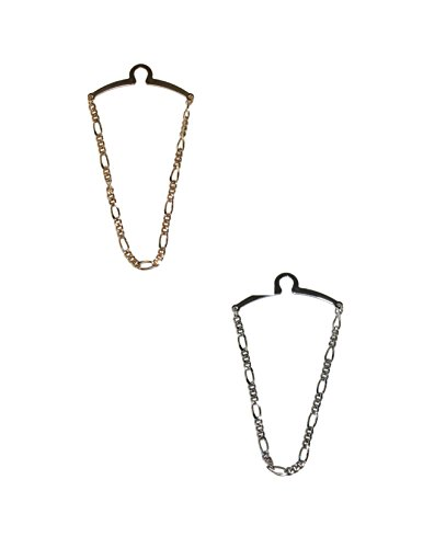 - Competition Inc. Men's Figaro Style Link Tie Chains (Pack of 2), Gold/Silver