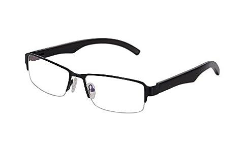 SHINU Anti Blue Light Glasses Semi-rimless Wood Metal Frame Clear Lens Computer Eyeglasses-2726(black-ebony,anti blue - Eyeglasses Light Blue Frame
