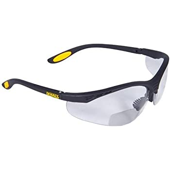 83518b0690 Dewalt DPG59-120C Reinforcer Rx-Bifocal 2.0 Clear Lens High Performance  Protective Safety Glasses with Rubber Temples and Protective Eyeglass Sleeve