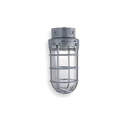 Lithonia Lighting VC150I M12 Incandescent Utility Vapor Tight Ceiling Mount Fixture, Grey