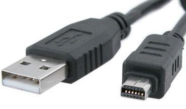 Nuevo Usb fecha Cable Para Olympus Stylus 600 Sp-310 Fe-120 D-630 C-70 Zoom Cámara