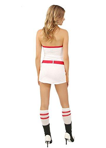 GGTBOUTIQUE Kleid A Rot Linie Mehrfarbig Damen Weiß z0rtqwz