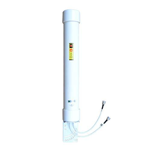 LS Antena omnidireccional de Doble polarización de 2,4 GHz 10dBi de Alta Ganancia señal WiFi en el Exterior Antena de...