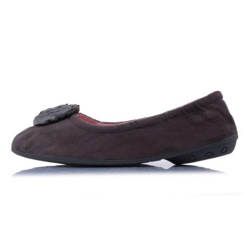 2c2e8c92a7ef Chaussons FEMME Ballerines - suédine - talon 2 cm Isotoner 41  Amazon.fr   Chaussures et Sacs