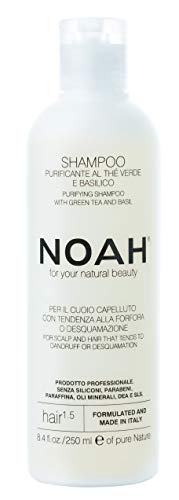 Noah Hair - 1.5 Purifying Shampoo with Green Tea and Basil - Organic Shampoo - With Green Tea Extract and Essential Oils- Natural Shampoo - Dandruff Shampoo - Hair Care for Natural Beauty - 8.5 fl.oz