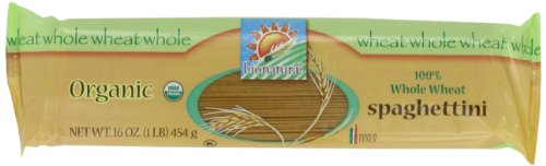 bionaturae Organic 100% Whole Wheat Spaghettini, 16 Ounce Bags (Pack of 12)