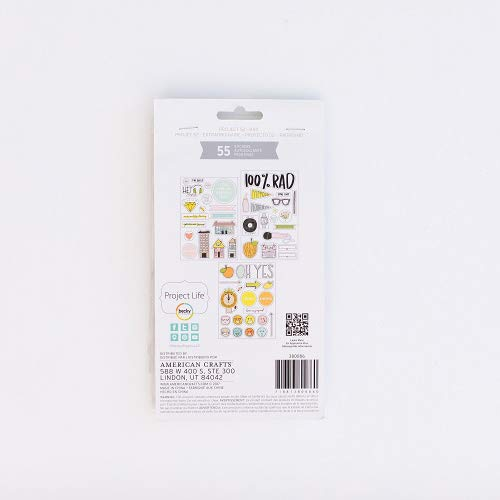 American Crafts 380086 Project Life Chipboard Stickers-Project 52 Rad