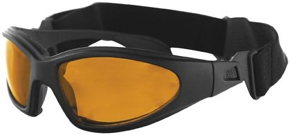 Bobster GXR Sunglass-Goggles - One size fits most/Black w/ Amber