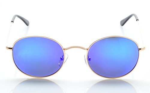 Eyekepper Montura Gafas de Polarizadas Revo Dorada azul Sol Redondas 6T6rHnqB