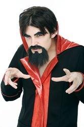 Devil Mustache and Goatee Set Costume Accessory]()