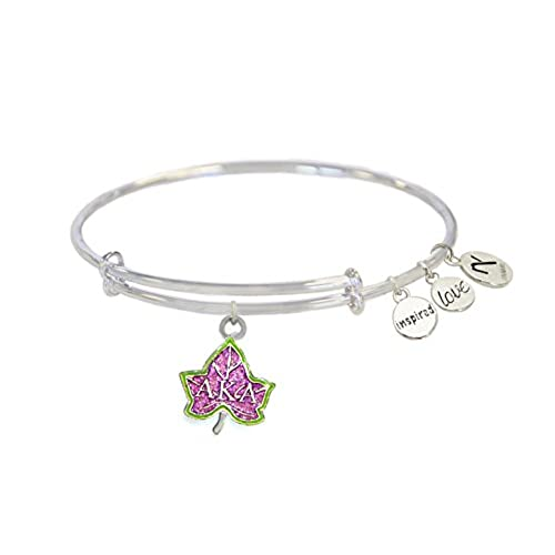 hot Pink Ivy Alpha Kappa Alpha Inspired Love Bangle- Silver for cheap