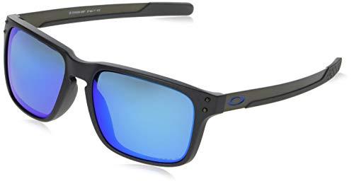 (Oakley Men's Holbrook Mix (a) Polarized Iridium Rectangular Sunglasses, STEEL, 57.0 mm)