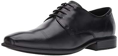 ECCO Men's Cairo Cap Toe Tie Oxford, Black Smooth, 39 EU/5-5.5 US