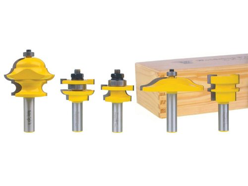 Yonico 12536 Raised Panel Cabinet Door Router Bit Set with Multi Form Molding Bit 1/2-Inch Shank by Yonico