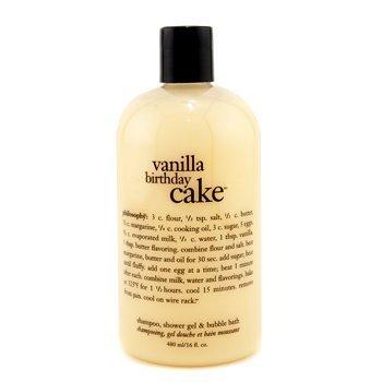 Vanilla Birthday Cake - Philosophy Vanilla Birthday Cake - Award Winning Ultra Rich Shampoo, S/G & Bubble Bath - 473.1ml/16oz