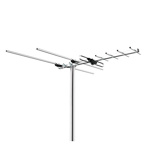 Getlink Combo outdoor antenna, Digital Outdoor VHF/UHF HDTV Antenna with Mounting Pole -45 Miles Range